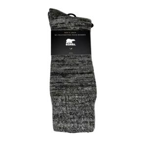 Sorel One Pair Men's Merino Wool Blend Crew Socks